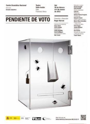 Cartel Pendiente de voto
