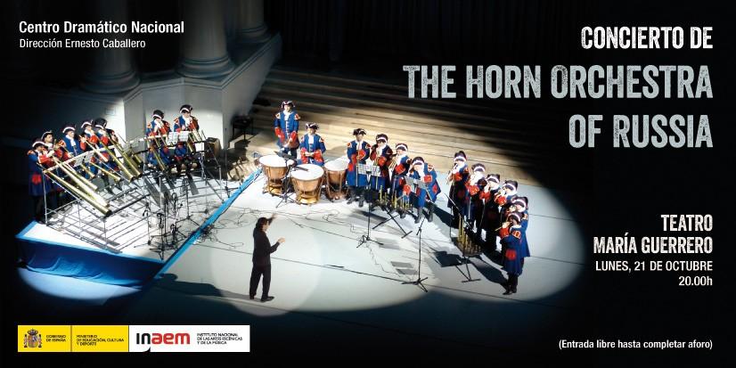 Cartel Concierto the horn orchestra of russia