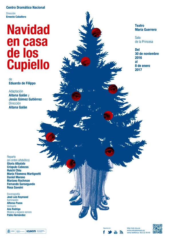 Cartel Navidad en casa de los Cupiello