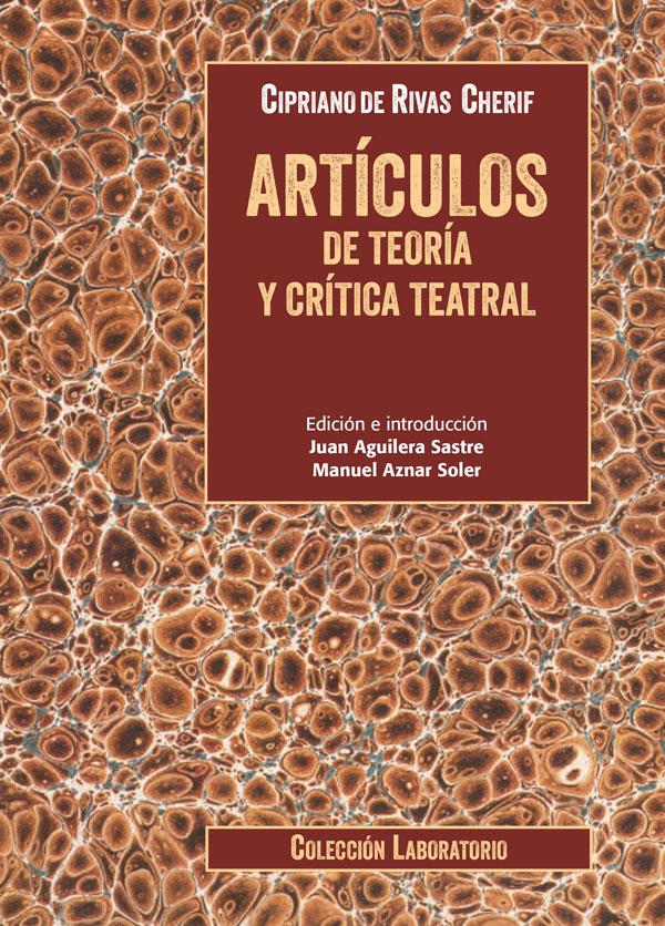 Cubierta Artículos de teoría y crítica teatral