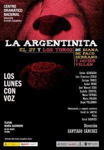 Cartel de La Argentinita. Los lunes con voz.