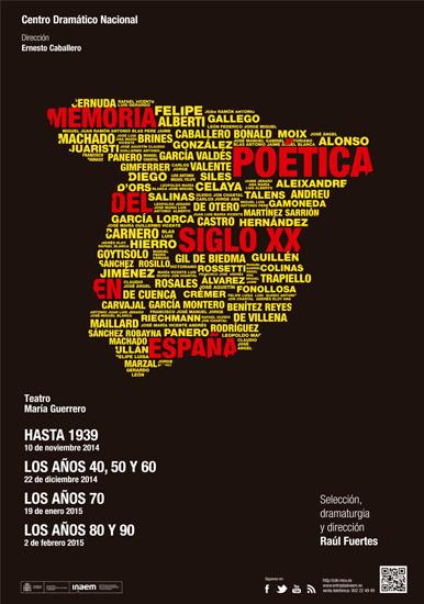 Cartel Memoria poética del siglo XX en España