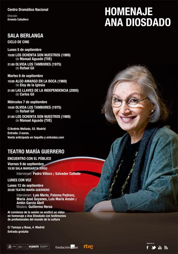 Cartel Homenaje a Ana Diosdado