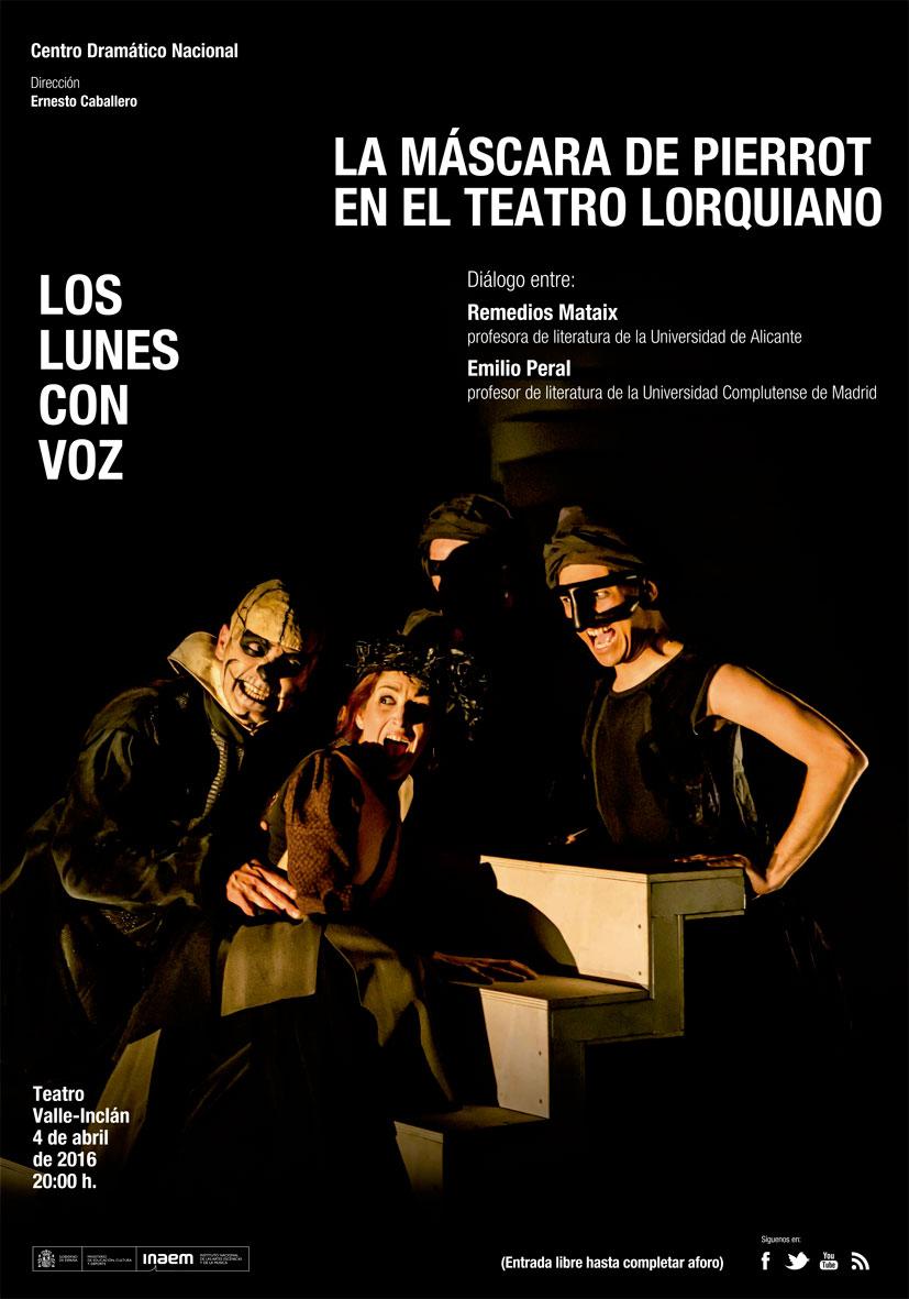 Cartel La máscara de Pierrot en el teatro lorquiano