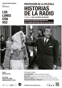 Cartel Proyección de Historias de la radio (Los lunes con voz)