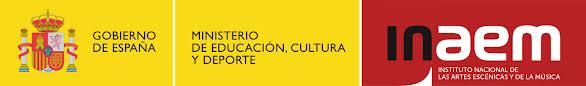 Logo INAEM (Instituto Nacional de las Artes Escénicas y de la Música. Ministerio de Educación, Cultura y Deporte)