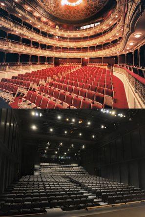 Interior de los teatros María Guerrero y Valle-Inclán